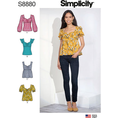Simplicity Sewing Pattern S8880 Misses Tops 8880 Image 1 From Patternsandplains.com