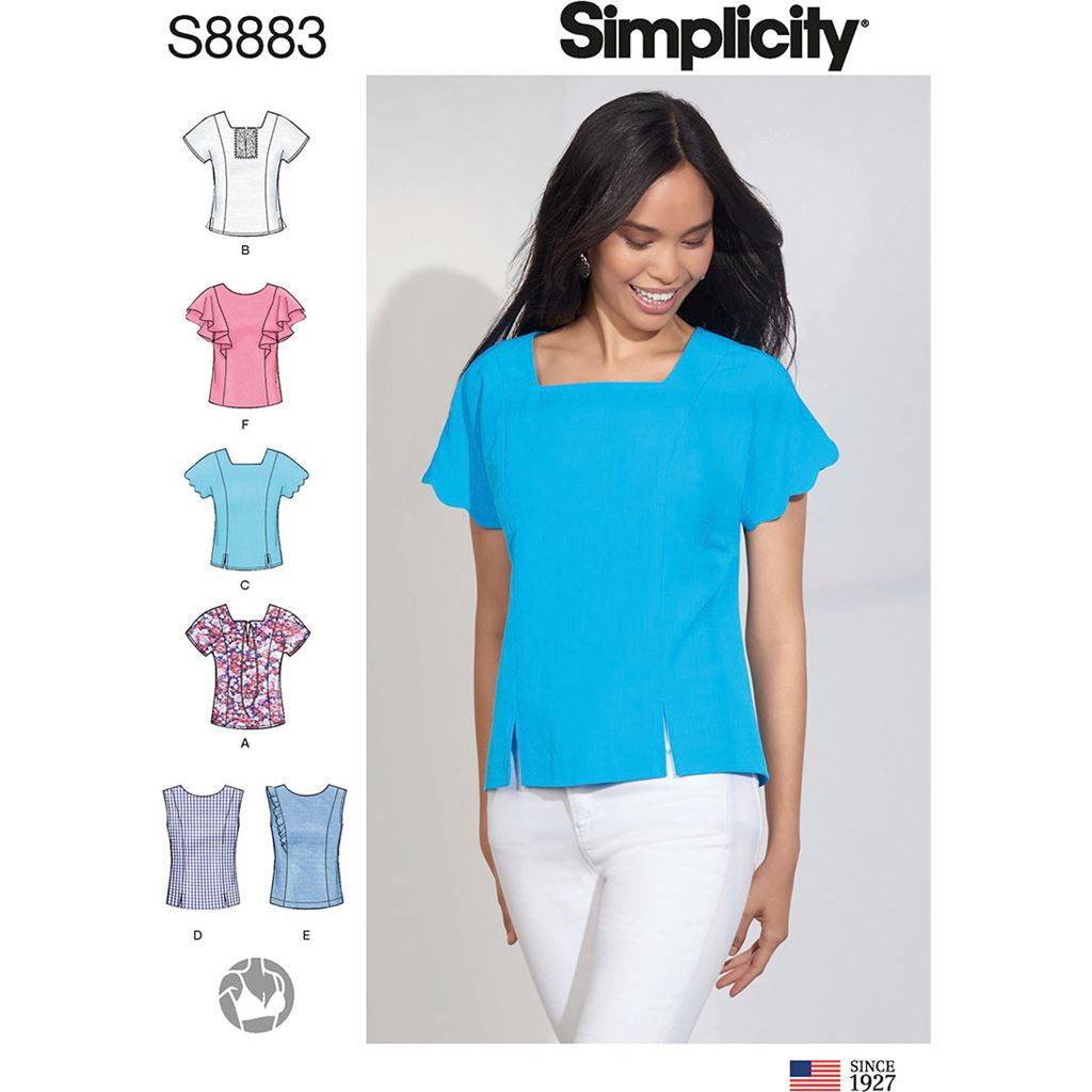 Simplicity Sewing Pattern S8883 Misses Tops 8883 Image 1 From Patternsandplains.com