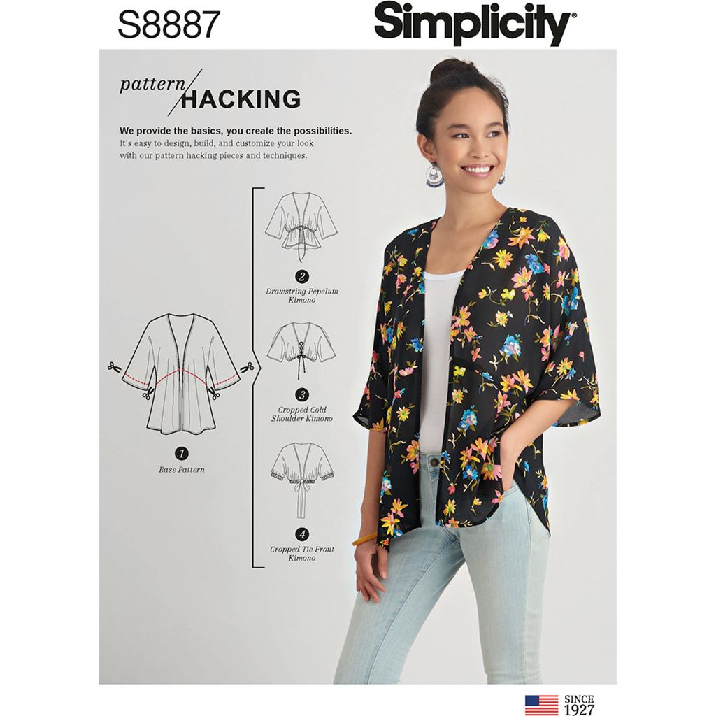 Simplicity Sewing Pattern S8887 Misses Design Hacking Kimono 8887 Image 1 From Patternsandplains.com