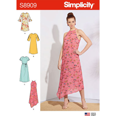 Simplicity Sewing Pattern S8909 Misses Dresses 8909 Image 1 From Patternsandplains.com