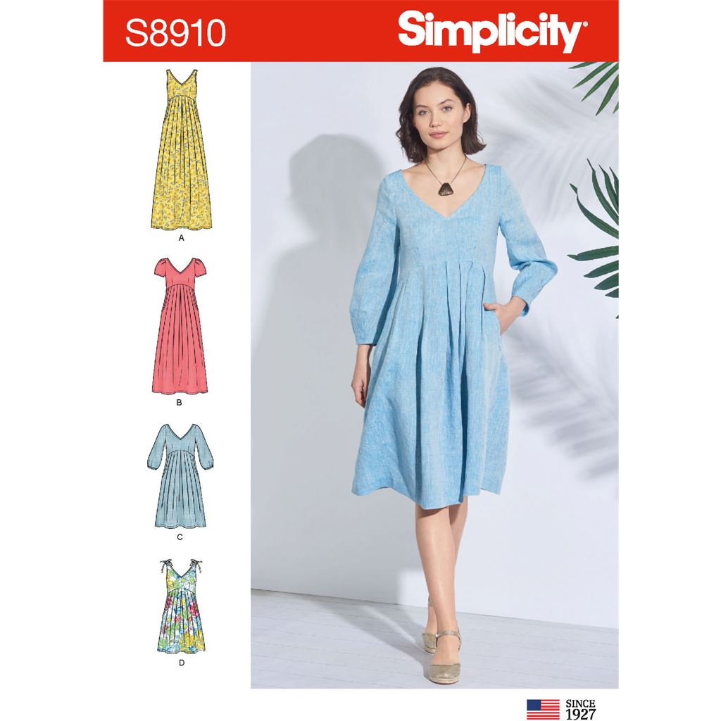 Simplicity Sewing Pattern S8910 Misses Dress 8910 Image 1 From Patternsandplains.com
