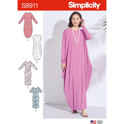 Simplicity Sewing Pattern S8911 Misses Knit Caftans 8911 Image 1 From Patternsandplains.com