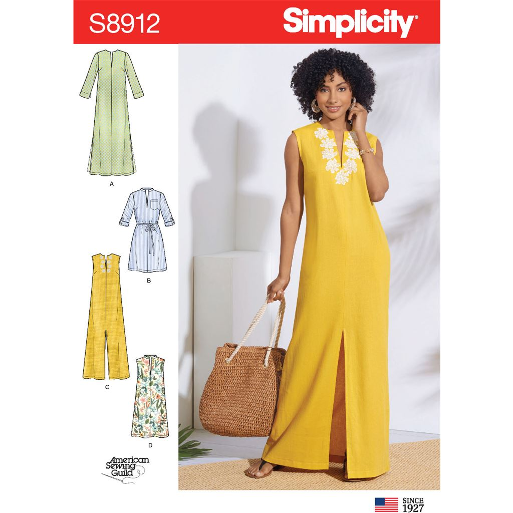 Simplicity Sewing Pattern S8912 Misses Dresses 8912 Image 1 From Patternsandplains.com