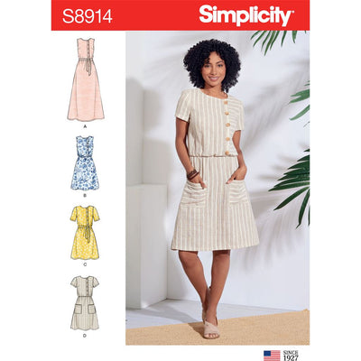 Simplicity Sewing Pattern S8914 Misses Dresses 8914 Image 1 From Patternsandplains.com