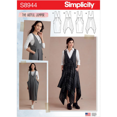 Simplicity Sewing Pattern S8944 Misses Jumpers 8944 Image 1 From Patternsandplains.com