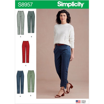 Simplicity Sewing Pattern S8957 Misses Slim Leg Pant with Variations 8957 Image 1 From Patternsandplains.com