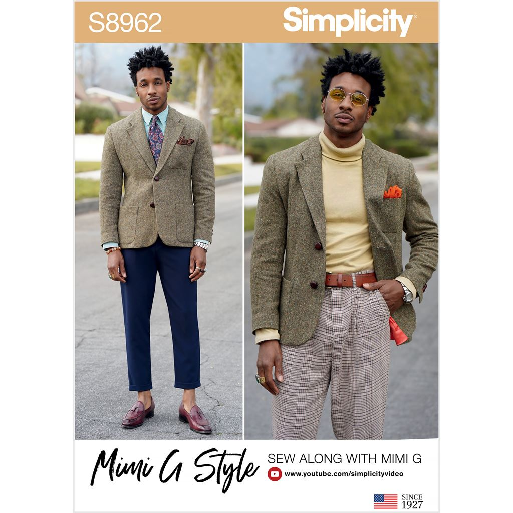 Simplicity Sewing Pattern S8962 Mens Lined Blazer 8962 Image 1 From Patternsandplains.com