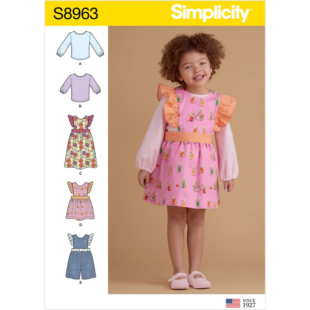 Simplicity Sewing Pattern S8963 Toddlers Separates 8963 Image 1 From Patternsandplains.com