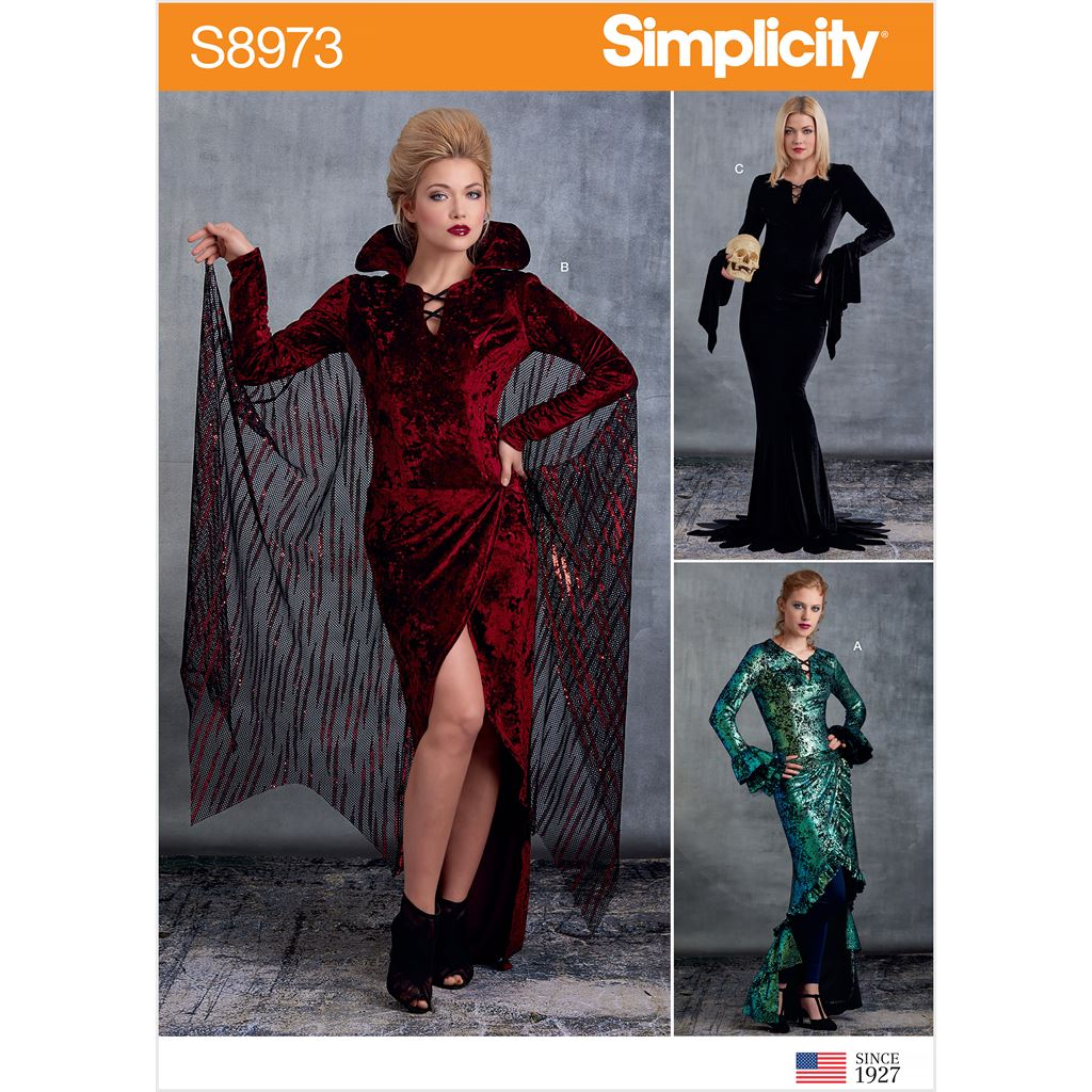 Simplicity Sewing Pattern S8973 Misses Halloween Costume 8973 Image 1 From Patternsandplains.com