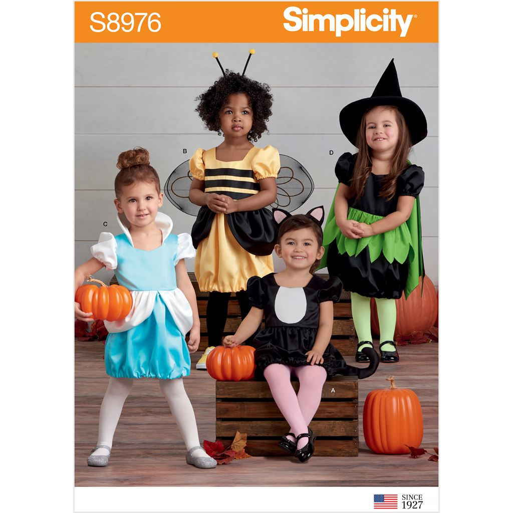 Simplicity Sewing Pattern S8976 Toddlers Assorted Halloween Costumes 8976 Image 1 From Patternsandplains.com
