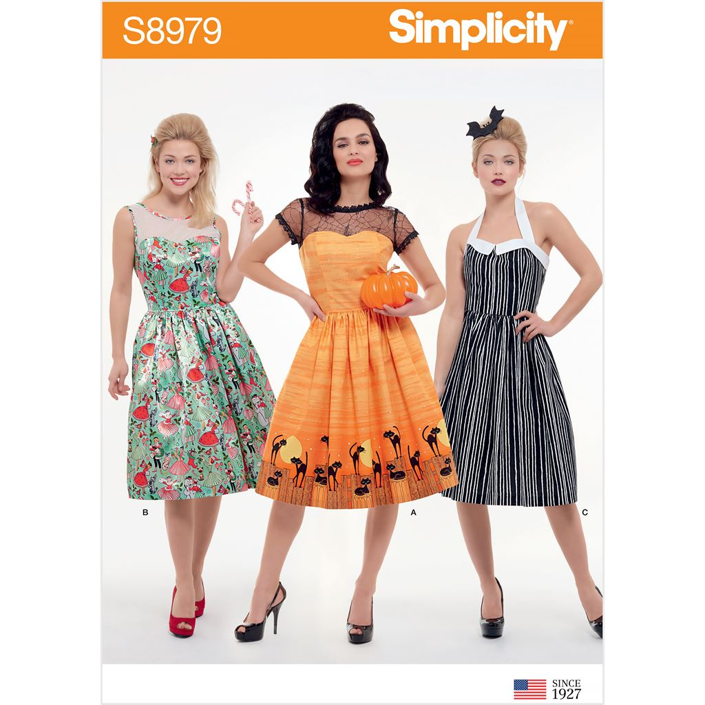 Simplicity Sewing Pattern S8979 Misses Classic Halloween Costume 8979 Image 1 From Patternsandplains.com