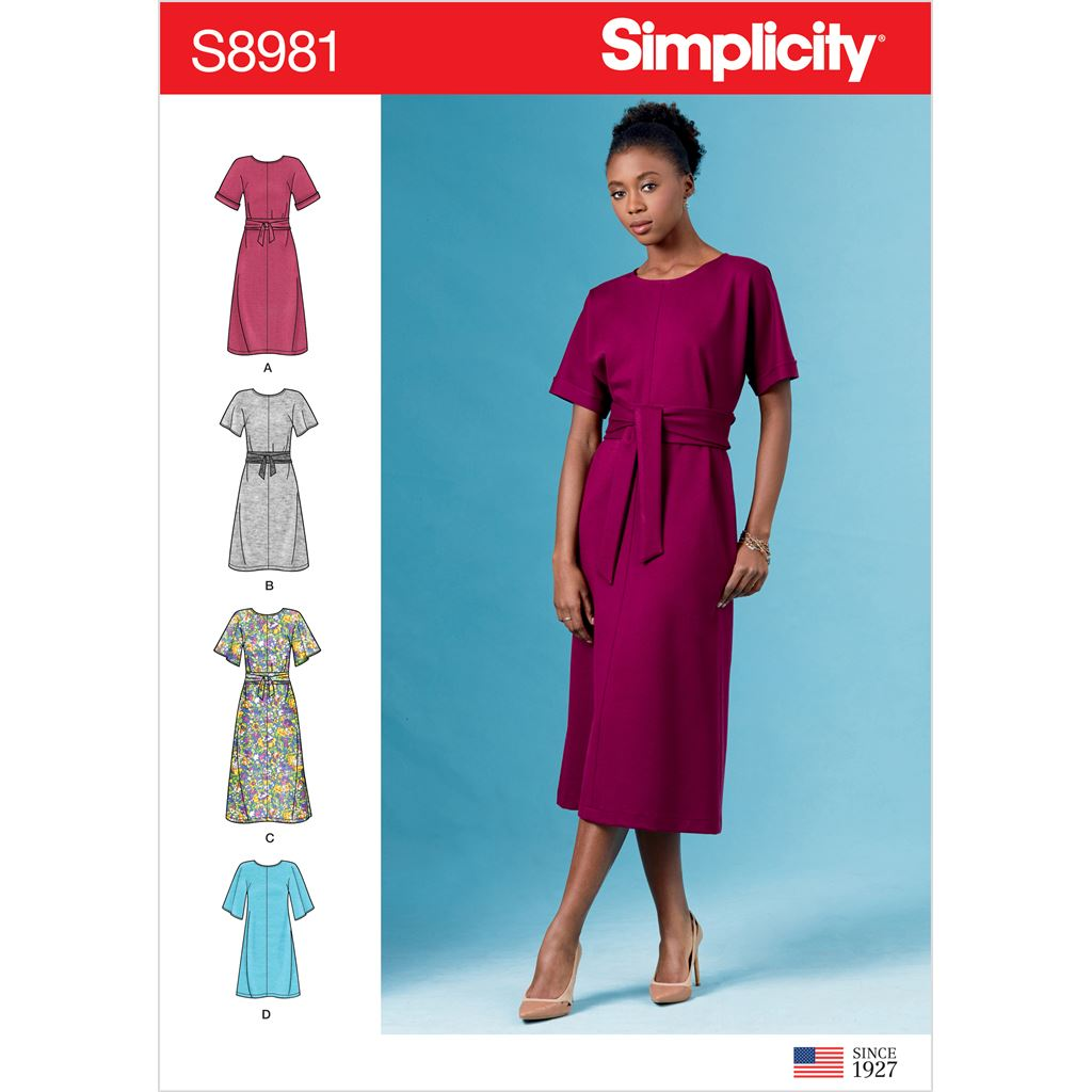 Simplicity Sewing Pattern S8981 Misses Front Tie Dresses 8981 Image 1 From Patternsandplains.com