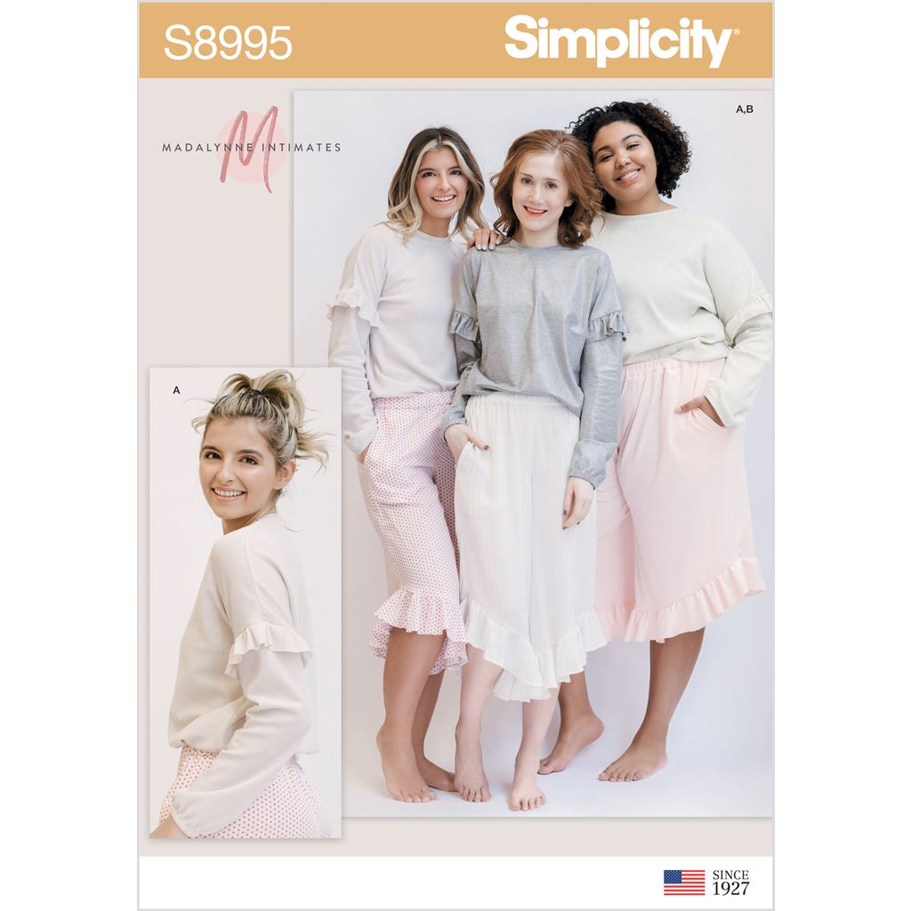 Simplicity Sewing Pattern S8995 Misses Lounge Pants and Knit Lounge Top 8995 Image 1 From Patternsandplains.com