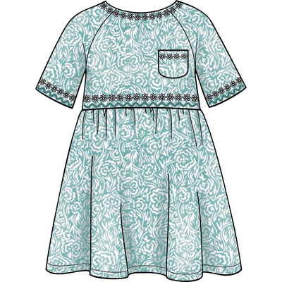 Simplicity Sewing Pattern S8998 Childrens Easy To Sew Sportswear Dress Top Pants 8998 Image 3 From Patternsandplains.com