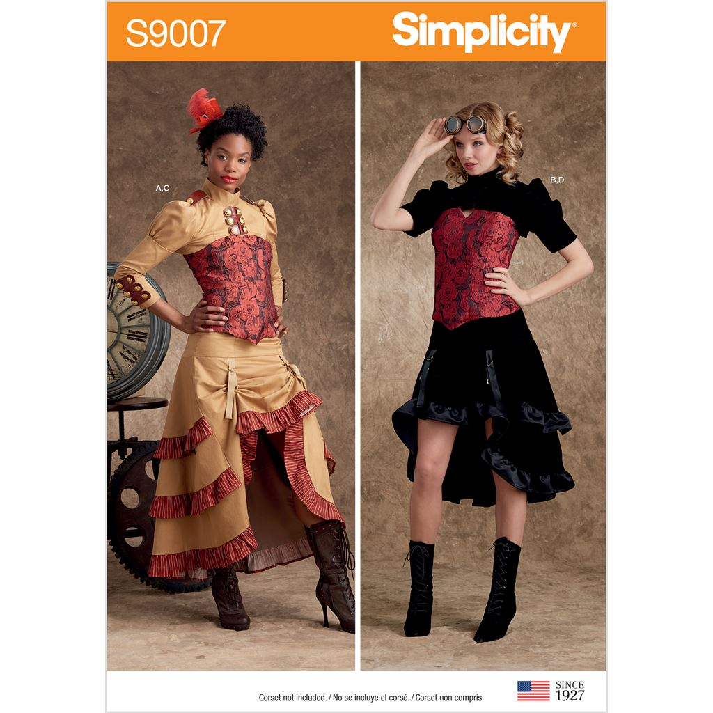 Simplicity Sewing Pattern S9007 Misses Steampunk Costumes 9007 Image 1 From Patternsandplains.com
