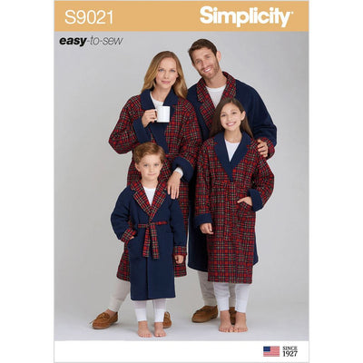Simplicity Sewing Pattern S9021 Childrens Teens and Adults Robe 9021 Image 1 From Patternsandplains.com