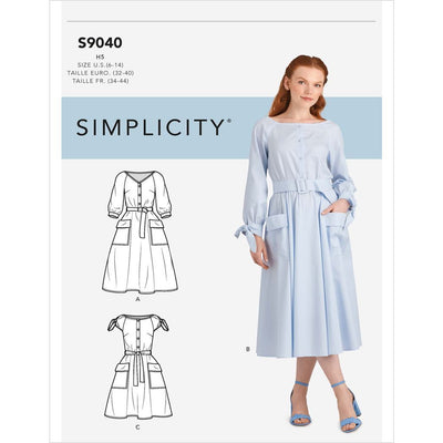 Simplicity Sewing Pattern S9040 Misses Pocket Dress 9040 Image 1 From Patternsandplains.com