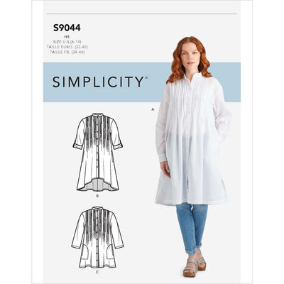 Simplicity Sewing Pattern S9044 Misses Tops With Tucks 9044 Image 1 From Patternsandplains.com