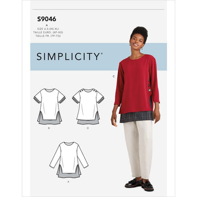 Simplicity Sewing Pattern S9046 Misses Layered Tunics 9046 Image 1 From Patternsandplains.com