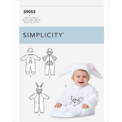 Simplicity Sewing Pattern S9053 Babies Jumpsuit and Hats 9053 Image 1 From Patternsandplains.com