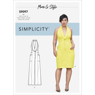 Simplicity Sewing Pattern S9097 Misses Dress and Jumpsuit 9097 Image 1 From Patternsandplains.com