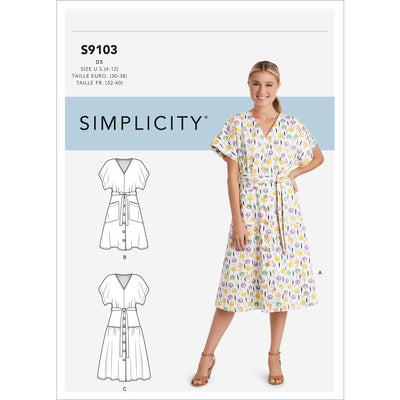Simplicity Sewing Pattern S9103 Misses Dresses In Two Lengths With Tiered Variation 9103 Image 1 From Patternsandplains.com