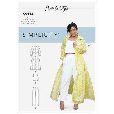 Simplicity Sewing Pattern S9114 Misses Dress Top and Pants 9114 Image 1 From Patternsandplains.com