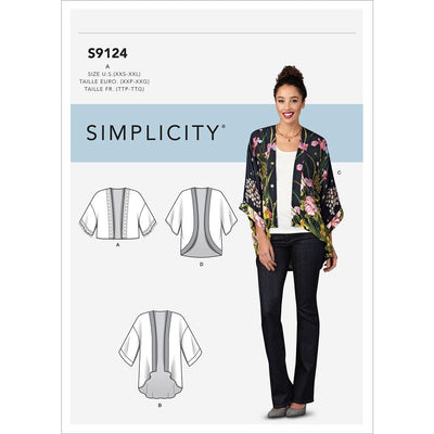 Simplicity Sewing Pattern S9124 Misses Jackets 9124 Image 1 From Patternsandplains.com