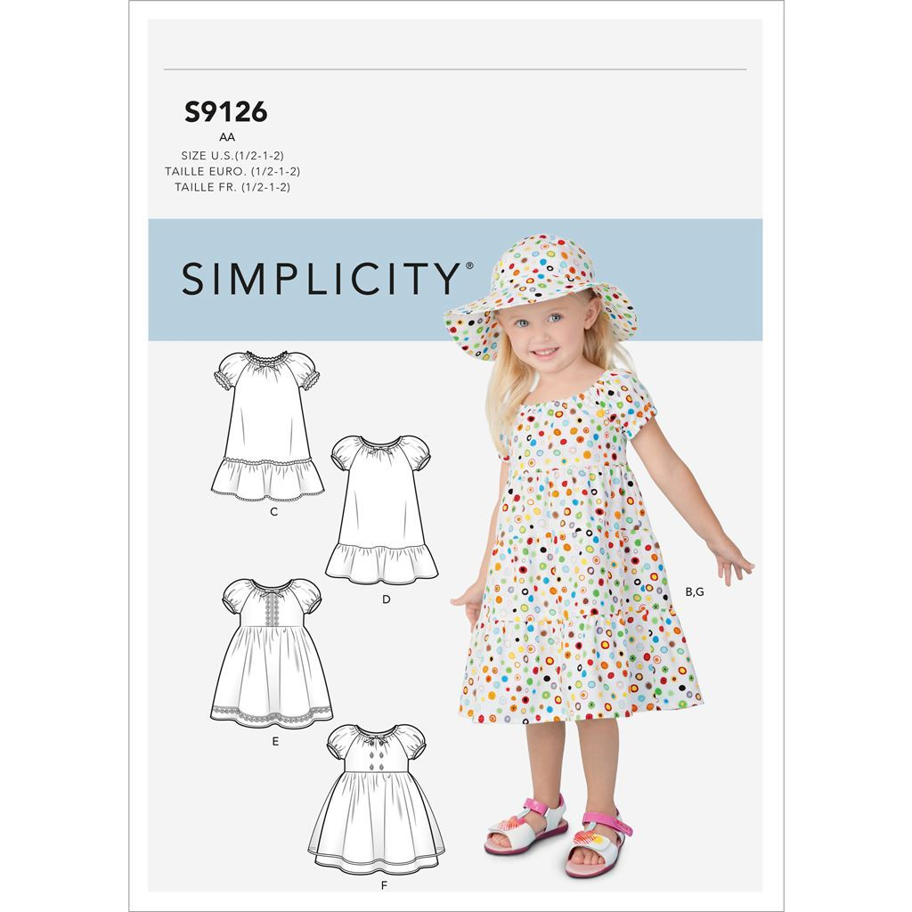 Simplicity Sewing Pattern S9126 Toddlers Dresses 9126 Image 1 From Patternsandplains.com