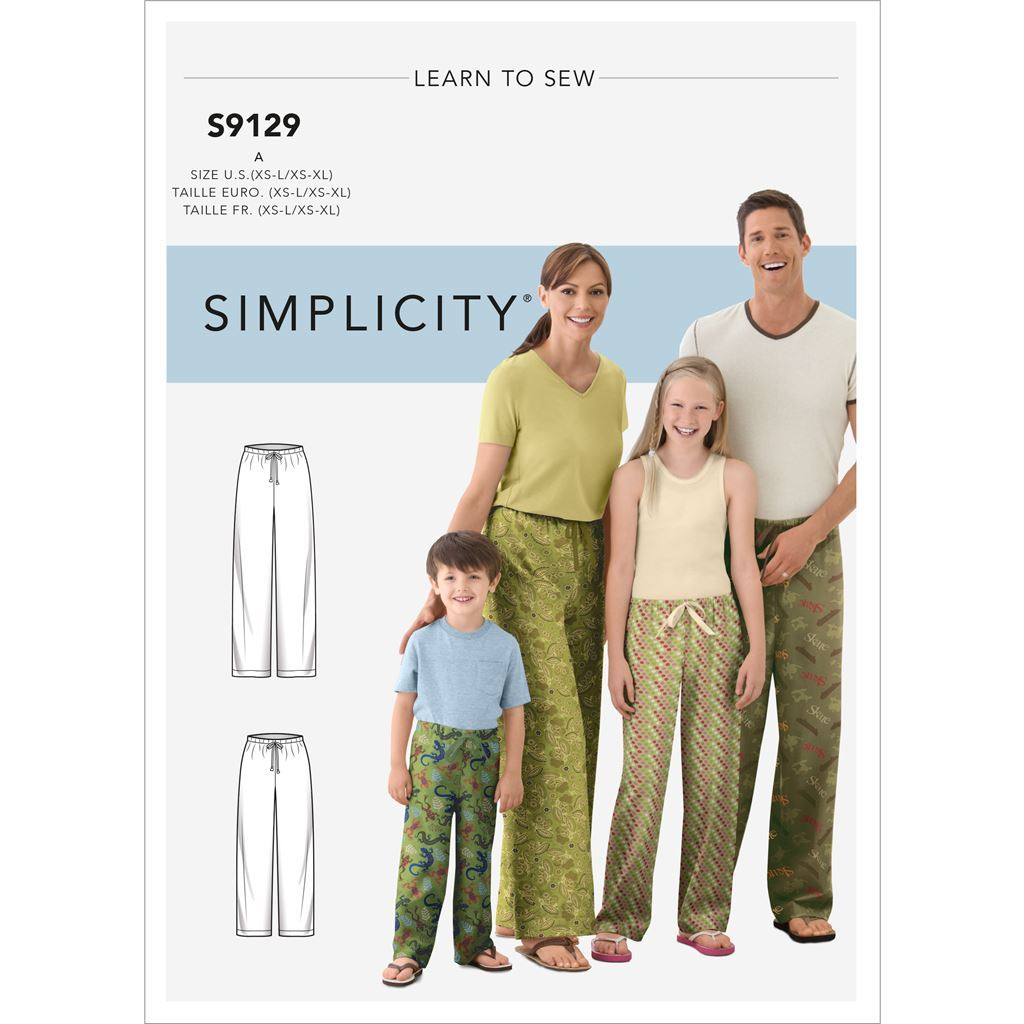 Simplicity Sewing Pattern S9129 Unisex Sleepwear 9129 Image 1 From Patternsandplains.com