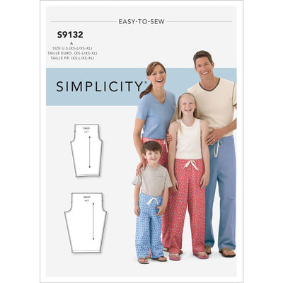Simplicity Sewing Pattern S9132 Unisex Sleepwear 9132 Image 1 From Patternsandplains.com