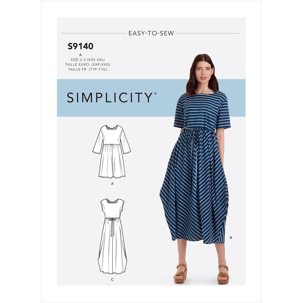 Simplicity Sewing Pattern S9140 Misses Relaxed Pullover Dress 9140 Image 1 From Patternsandplains.com