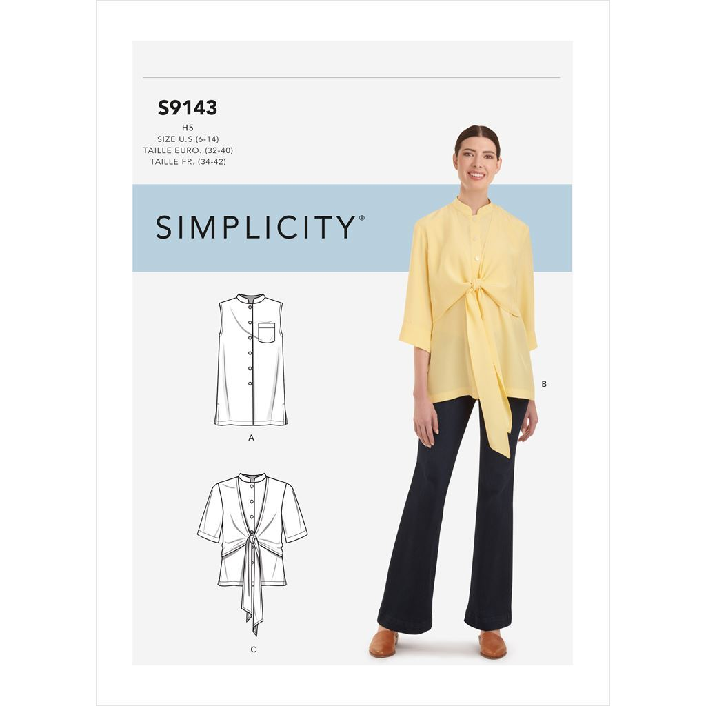 Simplicity Sewing Pattern S9143 Misses Top With Optional Draped Front 9143 Image 1 From Patternsandplains.com