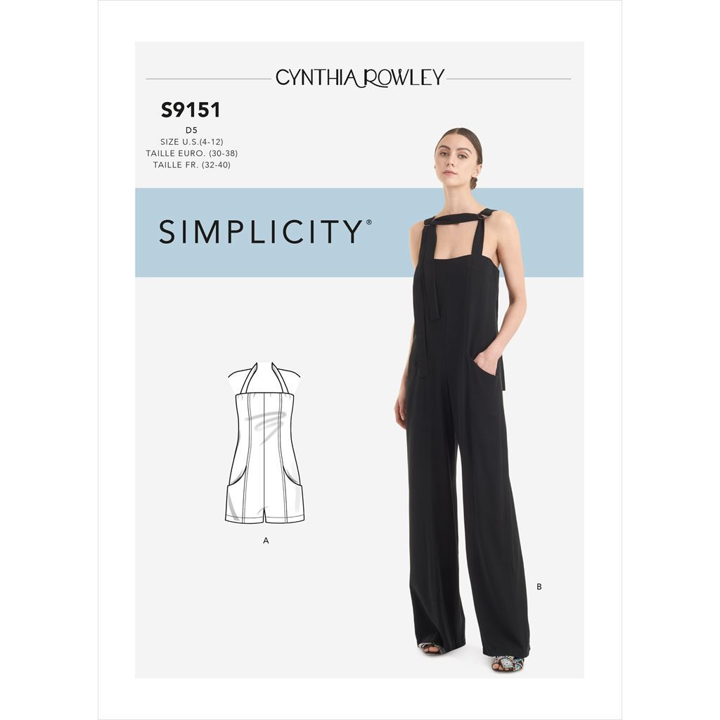 Simplicity Sewing Pattern S9151 Misses Jumpsuit and Romper 9151 Image 1 From Patternsandplains.com