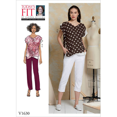 Vogue Pattern V1630 Misses Todays Fit Top and Trousers 1630 Image 1 From Patternsandplains.com