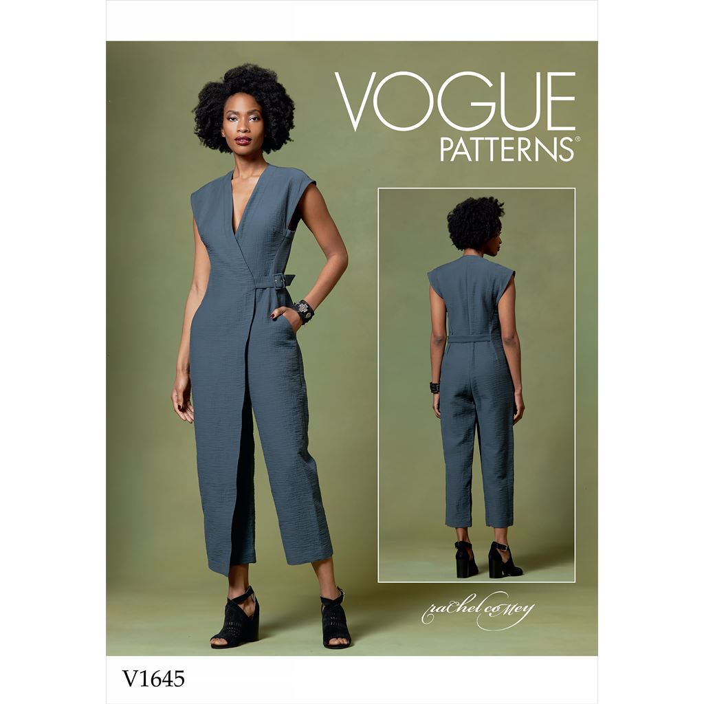 Vogue Pattern V1645 Misses Jumpsuit 1645 Image 1 From Patternsandplains.com