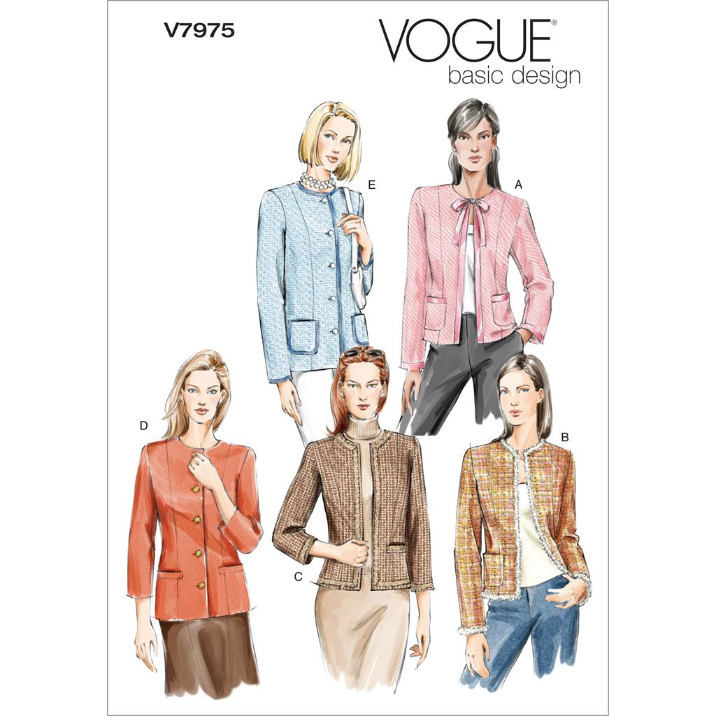 Vogue Pattern V7975 Misses Misses Petite Jacket 7975 Image 1 From Patternsandplains.com