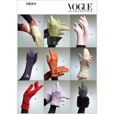 Vogue Pattern V8311 Gloves 8311 Image 1 From Patternsandplains.com