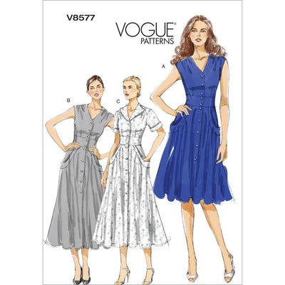 Vogue Pattern V8577 Misses Dress 8577 Image 1 From Patternsandplains.com