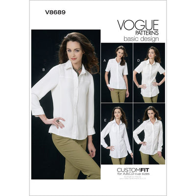 Vogue Pattern V8689 Misses Shirt 8689 Image 1 From Patternsandplains.com