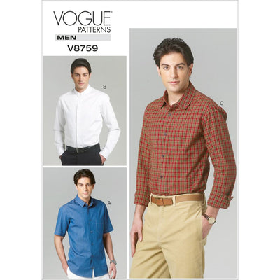 Vogue Pattern V8759 Mens Shirt 8759 Image 1 From Patternsandplains.com