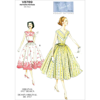 Vogue Pattern V8789 Misses Misses Petite Dress and Cummerbund 8789 Image 1 From Patternsandplains.com