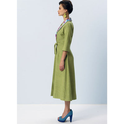 Vogue Pattern V8875 Misses Dress Belt Coat and Detachable Collar 8875 Image 10 From Patternsandplains.com.jpg