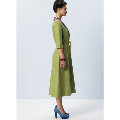 Vogue Pattern V8875 Misses Dress Belt Coat and Detachable Collar 8875 Image 12 From Patternsandplains.com.jpg