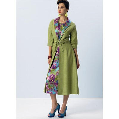 Vogue Pattern V8875 Misses Dress Belt Coat and Detachable Collar 8875 Image 13 From Patternsandplains.com.jpg