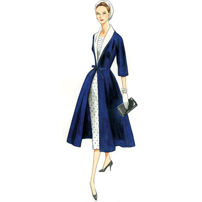 Vogue Pattern V8875 Misses Dress Belt Coat and Detachable Collar 8875 Image 20 From Patternsandplains.com.jpg