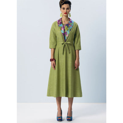 Vogue Pattern V8875 Misses Dress Belt Coat and Detachable Collar 8875 Image 9 From Patternsandplains.com.jpg