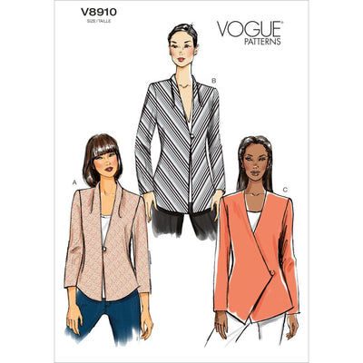 Vogue Pattern V8910 Misses Jacket 8910 Image 1 From Patternsandplains.com