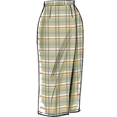 Vogue Pattern V8956 Misses Skirt 8956 Image 10 From Patternsandplains.com.jpg