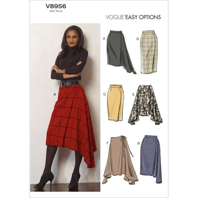 Vogue Pattern V8956 Misses Skirt 8956 Image 1 From Patternsandplains.com